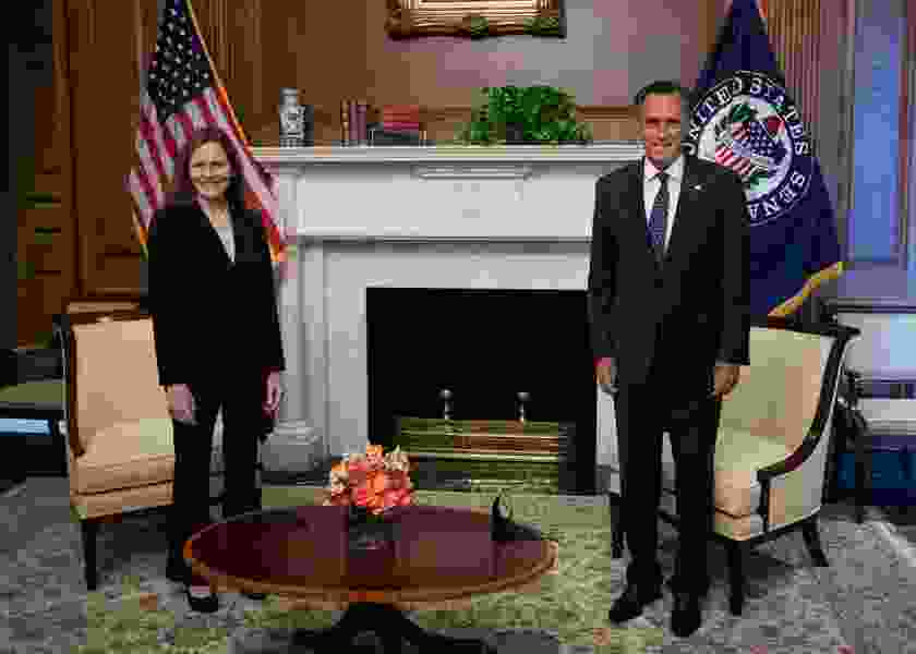 Mitt Romney impressed after meeting Supreme Court nominee Amy Coney Barrett, but doesn't commit to vote for her