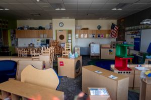 (Trent Nelson  |  The Salt Lake Tribune) An empty classroom at Liberty Elementary School in Salt Lake City on Monday, March 30, 2020. Schools serve as a safety net for children experiencing abuse, and kids didn't have as much access to help when people stayed home early in the COVID-19 pandemic, according to Utah experts.