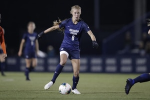 (Photo courtesy of BYU Athletics) BYU's Makayla Colohan dribbles the ball upfield during a recent Cougar women's soccer game.