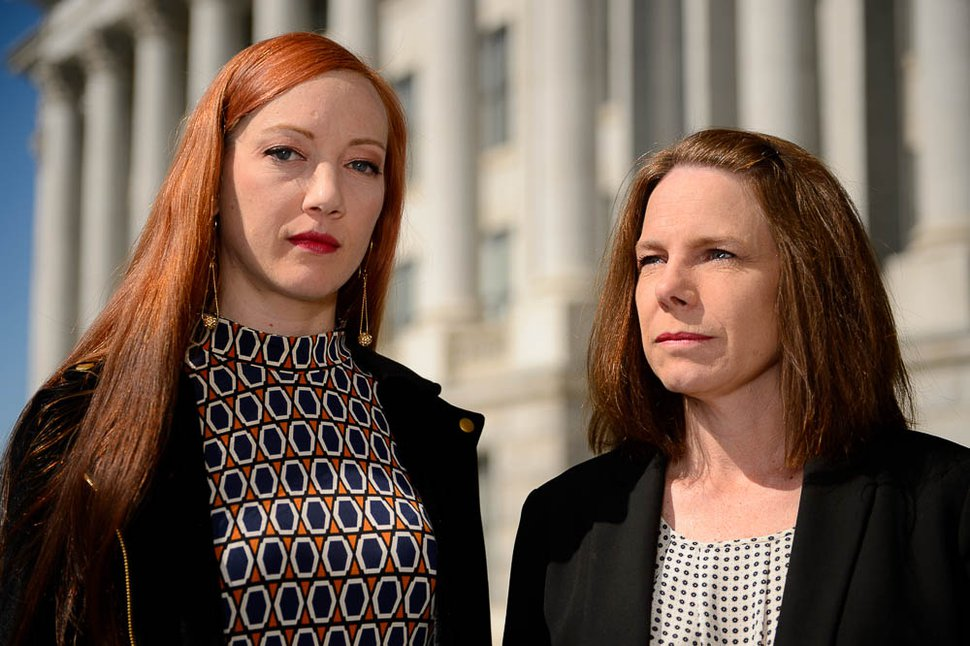(Trent Nelson | The Salt Lake Tribune) Karen Christopherson and Vanessa Walsh in Salt Lake City, Saturday, June 2, 2018.