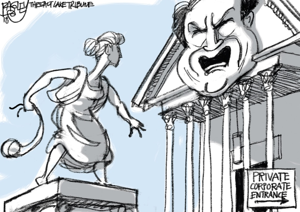 This Pat Bagley cartoon appears in The Salt Lake Tribune on Friday, Oct. 12, 2018.