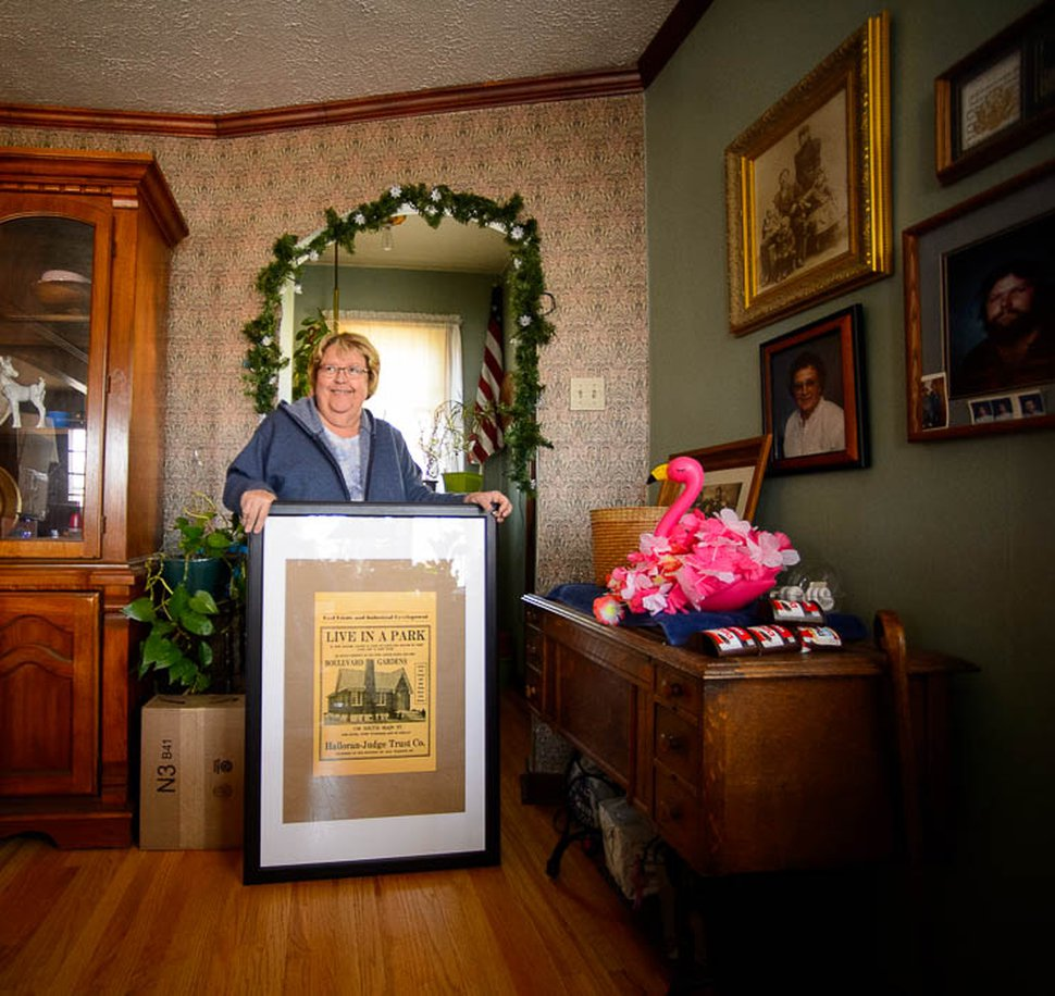 (Trent Nelson   The Salt Lake Tribune) Debbie Wafford in the Boulevard Gardens home she's lived in since 1989, on Friday Nov. 16, 2018. Boulevard Gardens is a unique Salt Lake City subdivision between Main Street and West Temple. The homes were built between 1929 and 1931 and face into a large landscaped courtyard, which runs the entire length of the development.