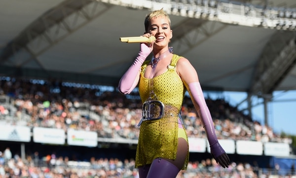Katy Perry performs at Wango Tango at StubHub Center on Saturday, May 13, 2017, in Carson, Calif. (Photo by Chris Pizzello/Invision/AP)