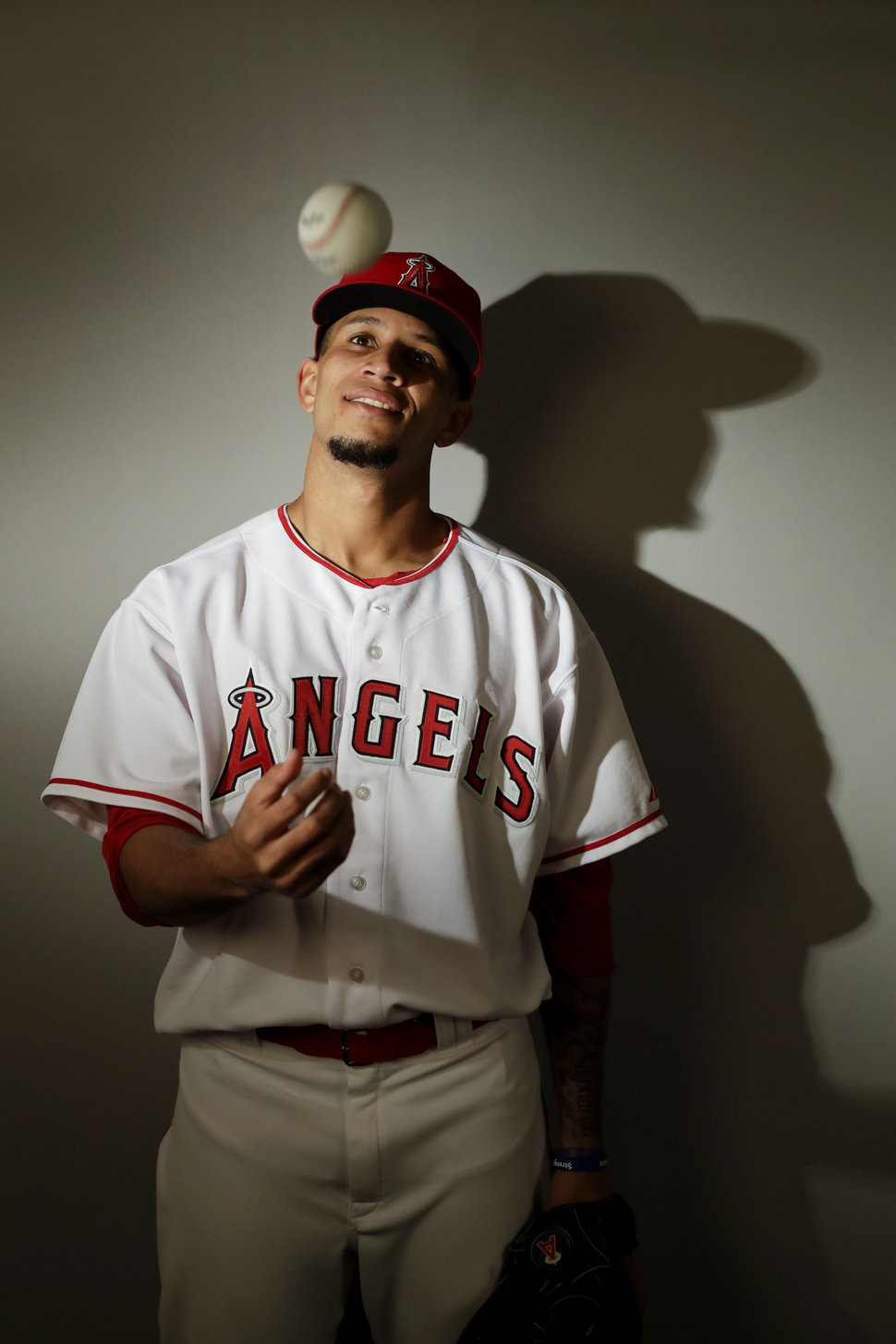 This is a 2017 photo of relief pitcher Keynan Middleton of the Los Angeles Angels baseball team poses for a portrait. This image reflects the Angels active roster as of Tuesday, Feb. 21, 2017, when this image was taken. (AP Photo/Chris Carlson)