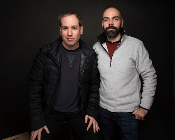 Directors Kief Davidson, left, and Pedro Kos pose for a portrait to promote the film,