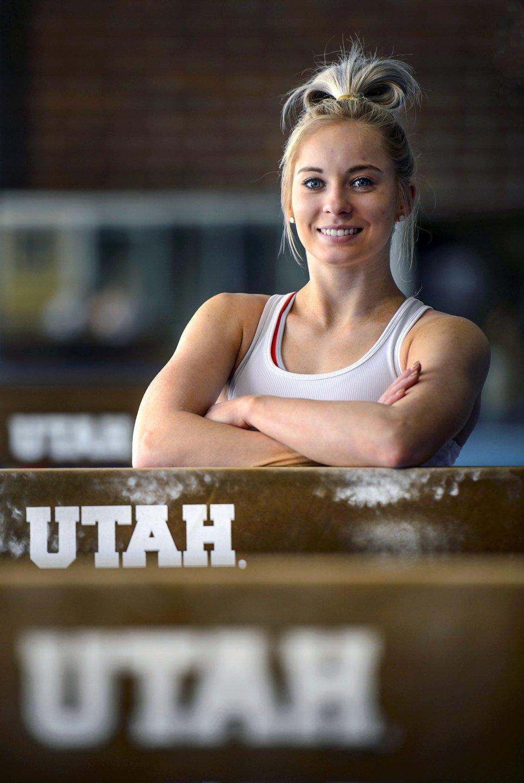 (Steve Griffin | Tribune file photo) Utah gymnast MyKayla Skinner before practice at the Dumke Gymnastics Center on the University of Utah campus in Salt Lake City on April 16, 2018.