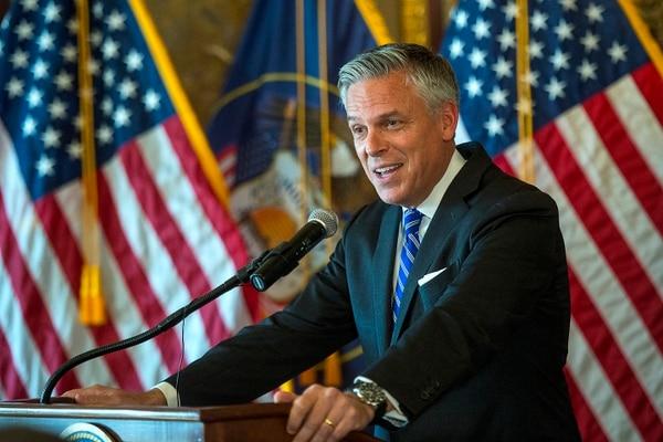 (Chris Detrick | The Salt Lake Tribune) Jon M. Huntsman Jr., U.S. ambassador to Russia, speaks at the Utah Capitol on Saturday, Oct. 7, 2017.
