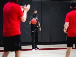 (Alina Rogers | University of Utah athletics) University of Utah men's basketball assistant coach DeMarlo Slocum at a recent offseason workout.