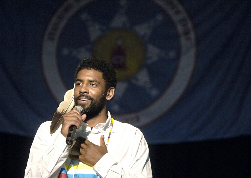 aa926cea7736 Celtics  Kyrie Irving honored by mother s Sioux tribe - The Salt ...