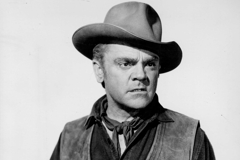 (Tribune file photo) James Cagney, seen here in a promotional photo from Paramount Pictures for the 1955 Western Run for Cover.