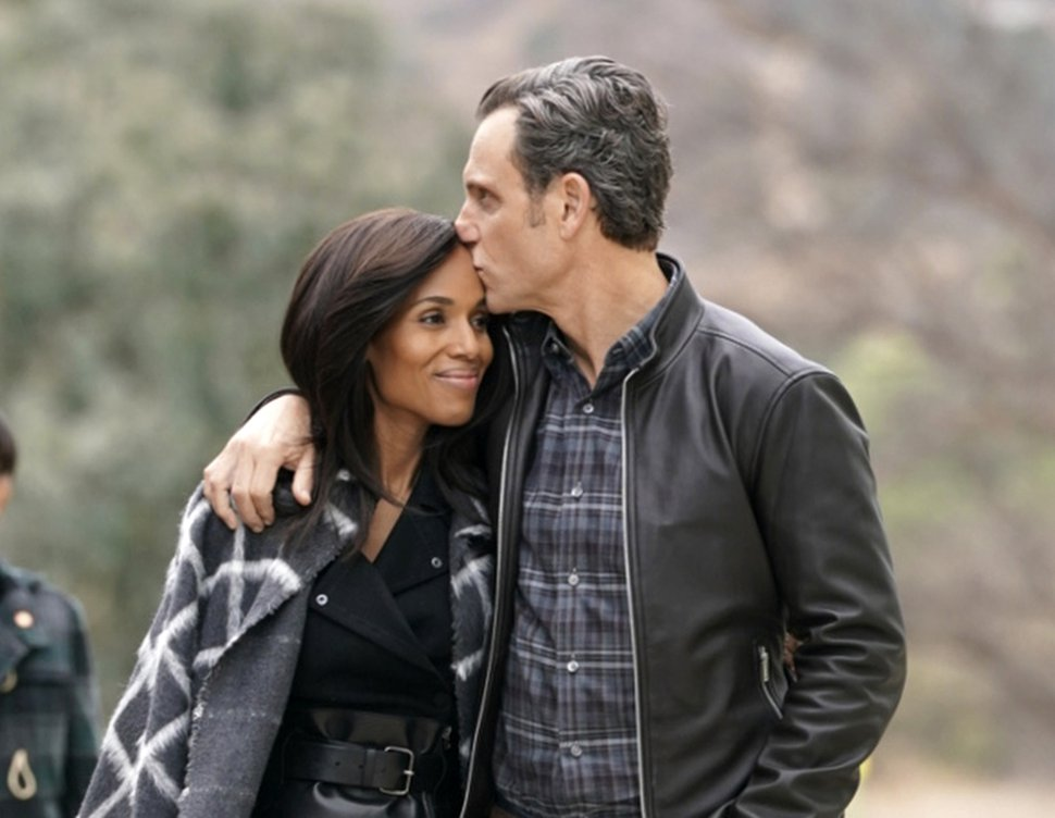 (Mitch Haaseth |ABC via Associated Press)Kerry Washington, left, and Tony Goldwyn in a scene from