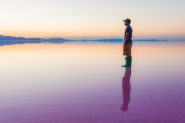 (File photo courtesy of Nilauro Markus) Evaporation ponds at the Great Salt Lake's Stansbury Island.