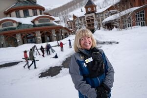 (Francisco Kjolseth  | The Salt Lake Tribune) Solitude's Kim Mayhew, one of the few female general managers, is retiring after 40+ years in the Utah ski industry.