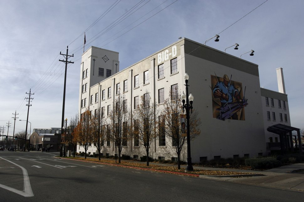 (Francisco Kjolseth | Tribune file photo) The former Fuller Paint Building, now serving as Big-D Construction headquarters, on 400 West is among the historic buildings most damaged by this week's earthquake.