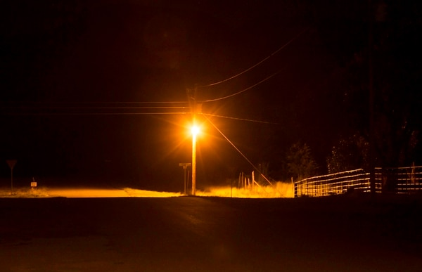 Scott T. Smith | Courtesy Torrey, Utah. USA. Old mercury vapor streetlight )that shine in every direction and obscures night sky) that has been replaced with dark sky friendly LED light.