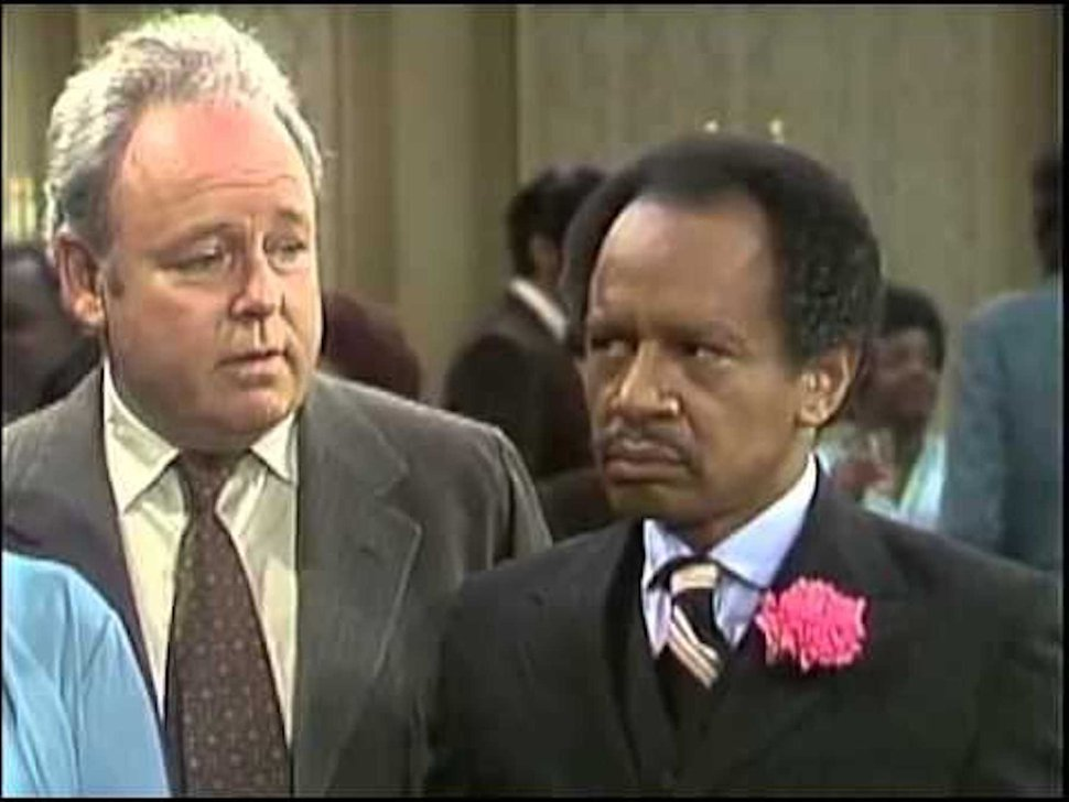 (Photo courtesy CBS) Carroll O'Connor as Archie Bunker and Sherman Hemsley as George Jefferson in