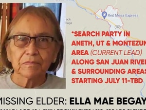 (MMIWhoIsMissing) Ella Mae Begay, a 62-year-old Navajo woman, has been missing since June. Over the weekend, her family extended their search into southern Utah.