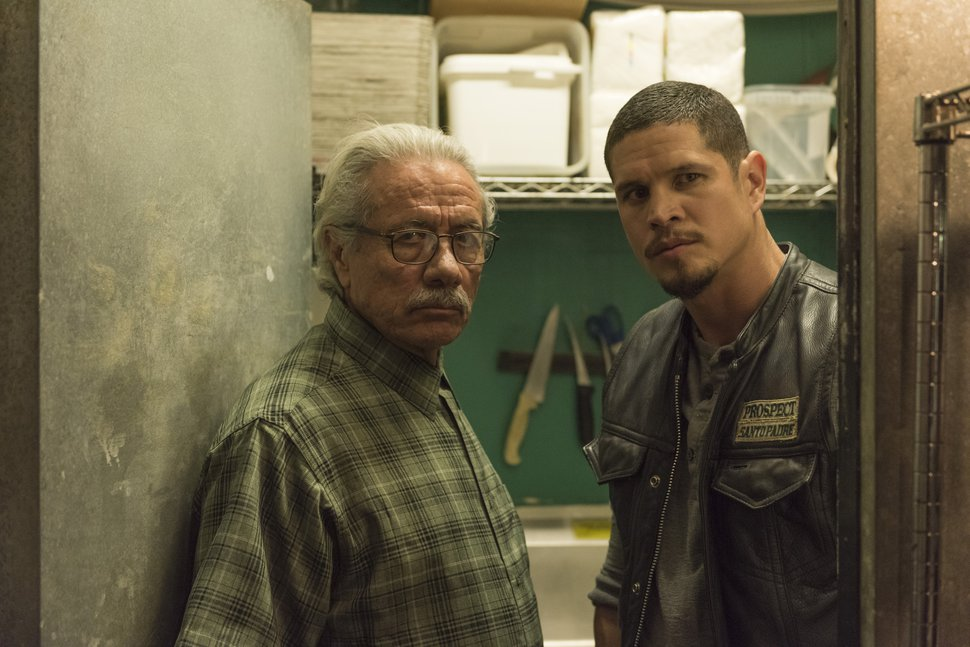 (Photo courtesy of Prashant Gupta/FX) Edward James Olmos as Felipe Reyes and JD Pardo as EZ Reyes in