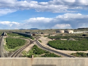 Courtesy photo by Global One Transport  Since 2014, the Price River Terminal in Wellington has been trans-loading oil from trucks to rail cars, opening a new path for Uinta Basin crude to reach out-of-state markets. It shipped about 7,500 barrels a day to Houston-area refiners in 2018.