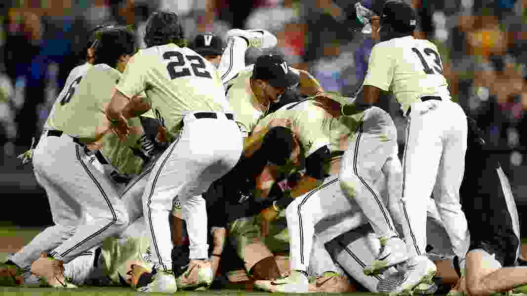 Vanderbilt wins 2nd national baseball title, beating Michigan 8-2