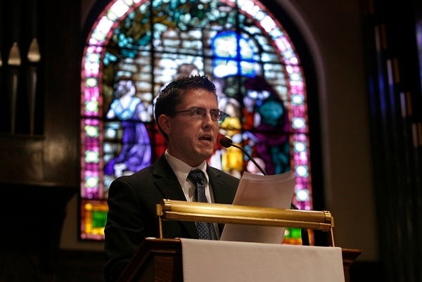 Scott Sommerdorf   The Salt Lake Tribune Josh Weed speaks at Circle the Wagons' second annual conference held at the Wasatch Presbyterian Church in Salt Lake City, Saturday, Nov. 3, 2012.