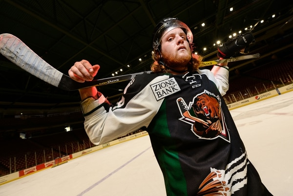 Francisco Kjolseth   The Salt Lake Tribune Grizzlies player Travis Howe is the player who gets into the most fights. He's an enforcer. But enforcers are becoming more and more rare in hockey.