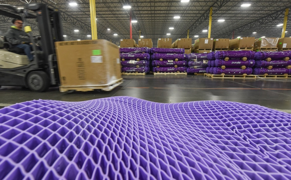 (Francisco Kjolseth | The Salt Lake Tribune) Purple, an Alpine based company that has developed tech to manufacture flexible mattresses at a plant in Grantsville, is among many Utah companies that are categorized as important high growth companies in Utah and Salt Lake counties. Those two counties are among the top six nationally in producing companies that are generating multiple jobs and considerable revenue.