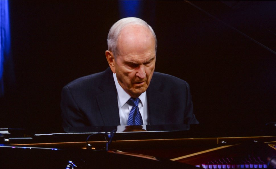 (Leah Hogsten   The Salt Lake Tribune) A video of The Church of Jesus Christ of Latter-day Saints President Russell M. Nelson playing Chopin during the gala celebrating his 95th birthday, Friday, Sept. 6, 2019, at the Conference Center in Salt Lake City.