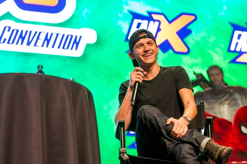 ( Alex Gallivan | Special to the Tribune ) Tom Holland, who has played Peter Parker/Spider-Man in five Marvel Cinematic Universe movies, speaks at the FanX Salt Lake Comic Convention at the Salt Palace Convention Center in Salt Lake City on Saturday, Sept. 7, 2019.