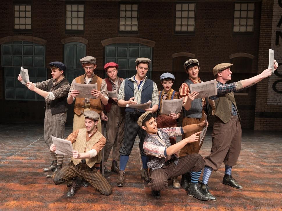 (Courtesy Pioneer Theatre Company) The cast of Pioneer Theatre Company's production of Newsies, running Dec. 1-20 in Salt Lake City.