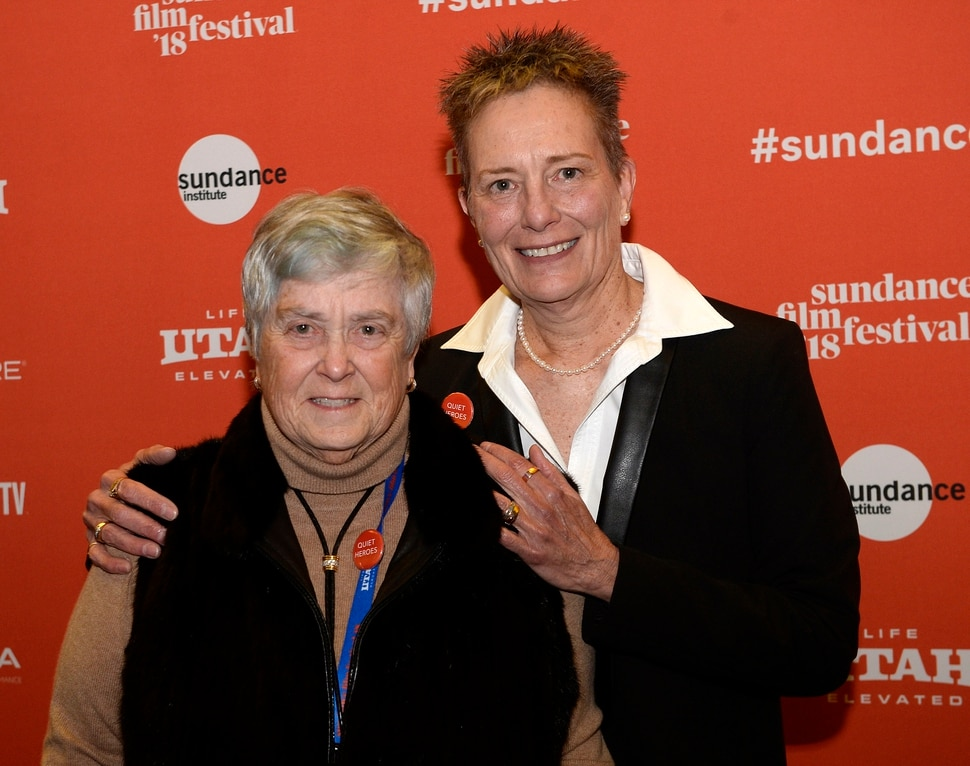 (Al Hartmann | The Salt Lake Tribune) Dr. Kristen Ries, left, and physician's assistant Maggie Snyder attend the first Sundance screening of documentary Quiet Heroes, celebrating the medical team that was the first (and, for a while, only) to treat HIV/AIDS patients in Utah.