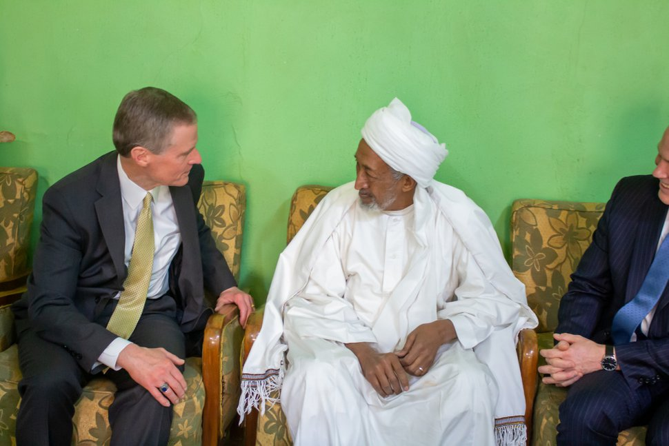 (Photo courtesy of The Church of Jesus Christ of Latter-day Saints) Apostle David A. Bednar meets with the Sufi Religious Council in Sudan.