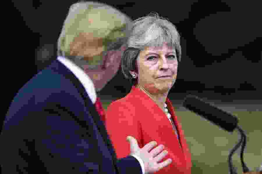 May reveals Trump Brexit advice: Sue the EU, don't negotiate