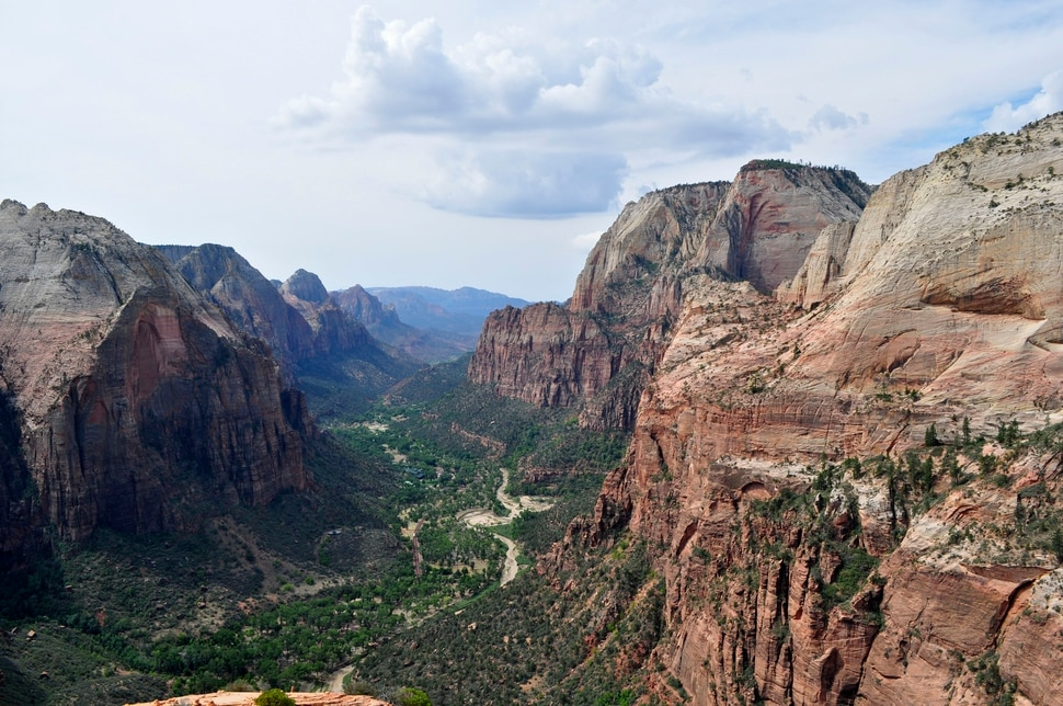 Erin Alberty | The Salt Lake Tribune Angels Landing offers sweeping views of Zion Canyon.