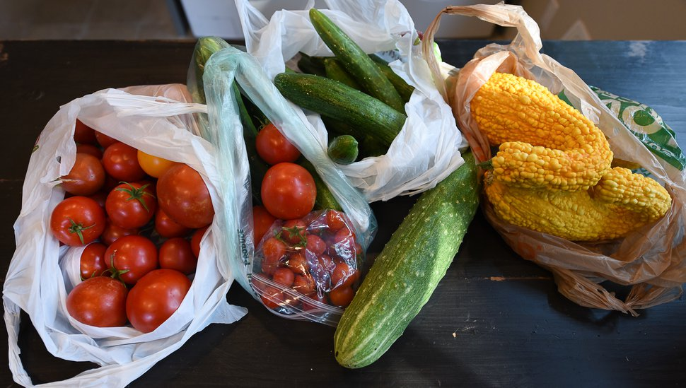 (Francisco Kjolseth | The Salt Lake Tribune) A recent donation taken in by Pat Thomas, the founder of Backyard GardenShare.
