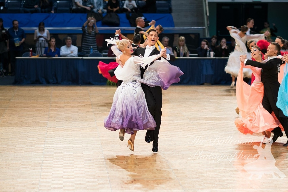 (Photo Courtesy of Tyler Keith Wilson) Tyler Keith Wilson dances with partner Gioia Reni at BYU's Marriott Center in this undated photo. BYU will allow same-sex couples to compete in a championship on campus this spring, and Wilson plans to dance with a man.