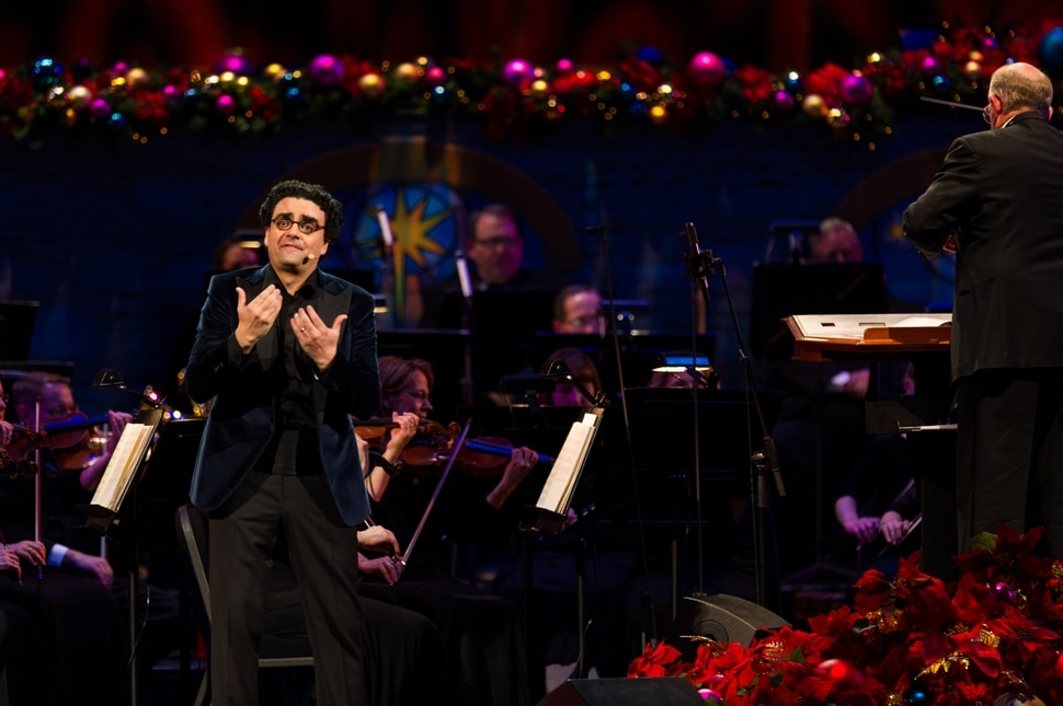 (Alex Gallivan | Special to the Tribune) Christmas with Mormon Tabernacle Choir featuring Rolando Villazón at The LDS Church Conference Center in Salt Lake City, Thursday,Dec 082016