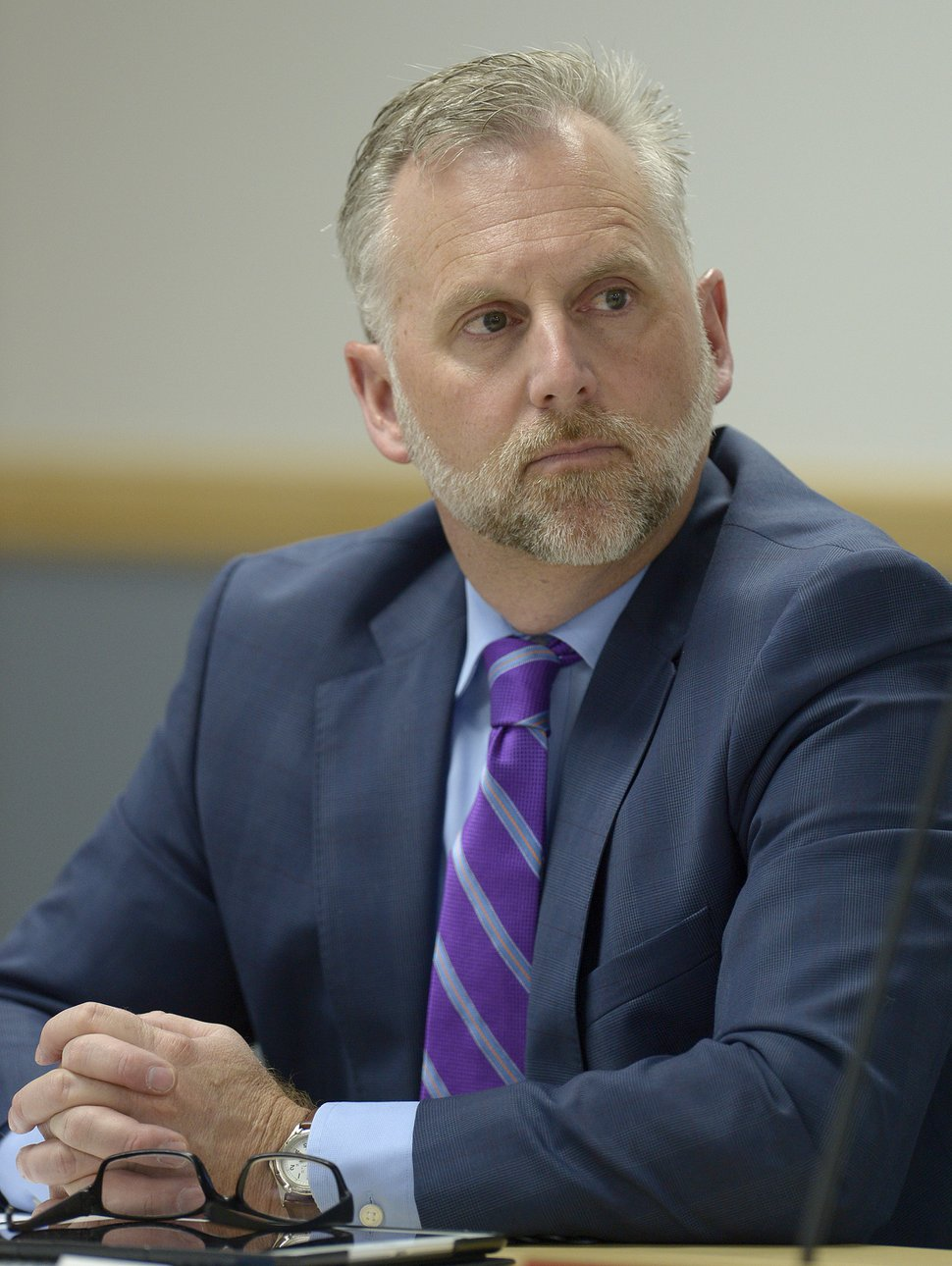 Leah Hogsten   The Salt Lake Tribune Bret Millburn and fellow members of the Utah Transit Authority Board discussed logistics of the controversial UTA Clearfield land deal during their open meeting, Wednesday, April 26, 2017.