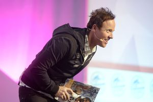 (Al Hartmann  |  Tribune file photo) Ryan Smith, executive chairman of Utah-based Qualtrics International, at the 2018 Silicon Slopes Tech Summit at the Salt Lake City.  Qualtrics is going public and its Thursday stock offering is expected to be one of the largest in Utah history.