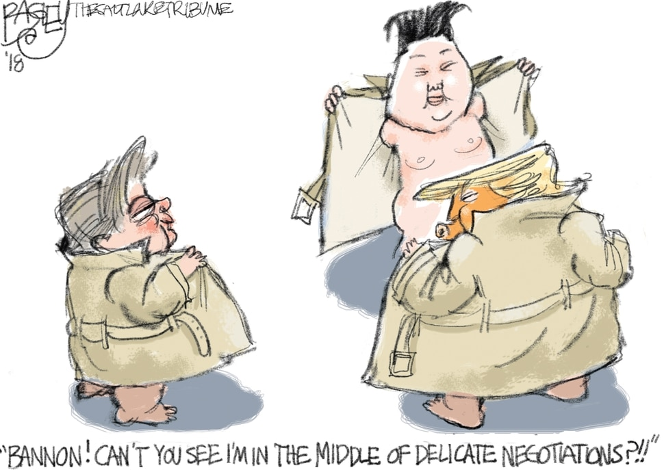 This Pat Bagley cartoon appears in The Salt Lake Tribune on Thursday, Jan. 4, 2018.