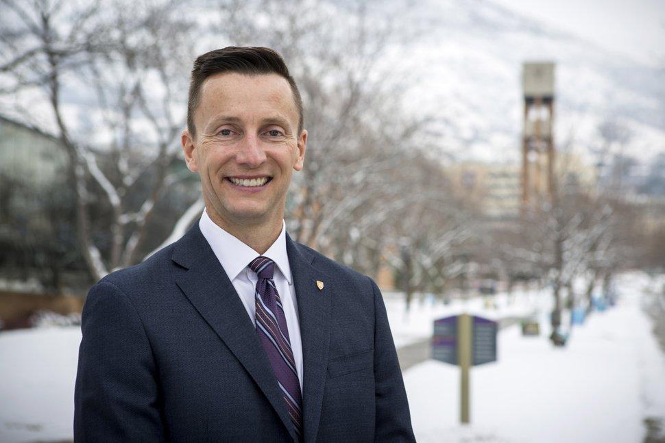 (Photo courtesy of Benjamin Zack) Pictured is Brad Mortensen, who was named president of Weber State University on Thursday, December 6, 2018.