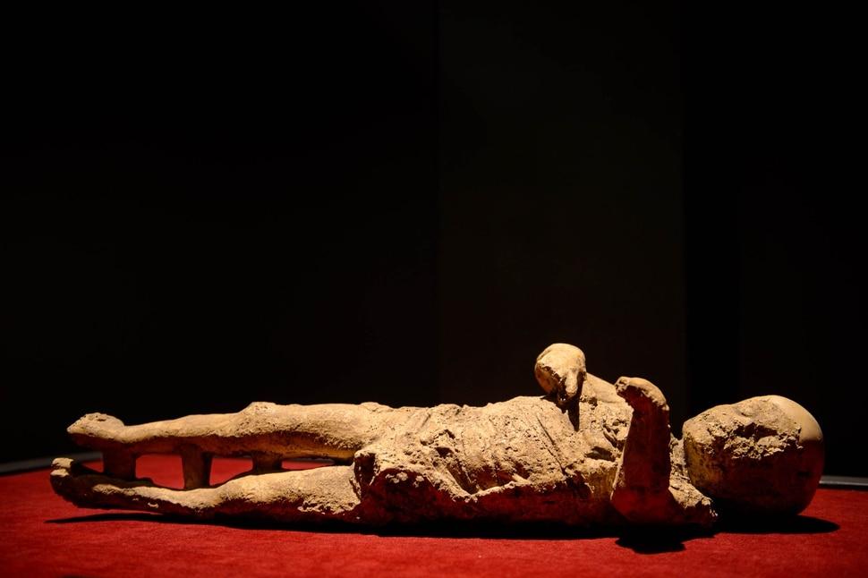 (Trent Nelson | The Salt Lake Tribune) Child, part of Pompeii: The Exhibition, opening Saturday at The Leonardo in Salt Lake City on Thursday Nov. 21, 2019.