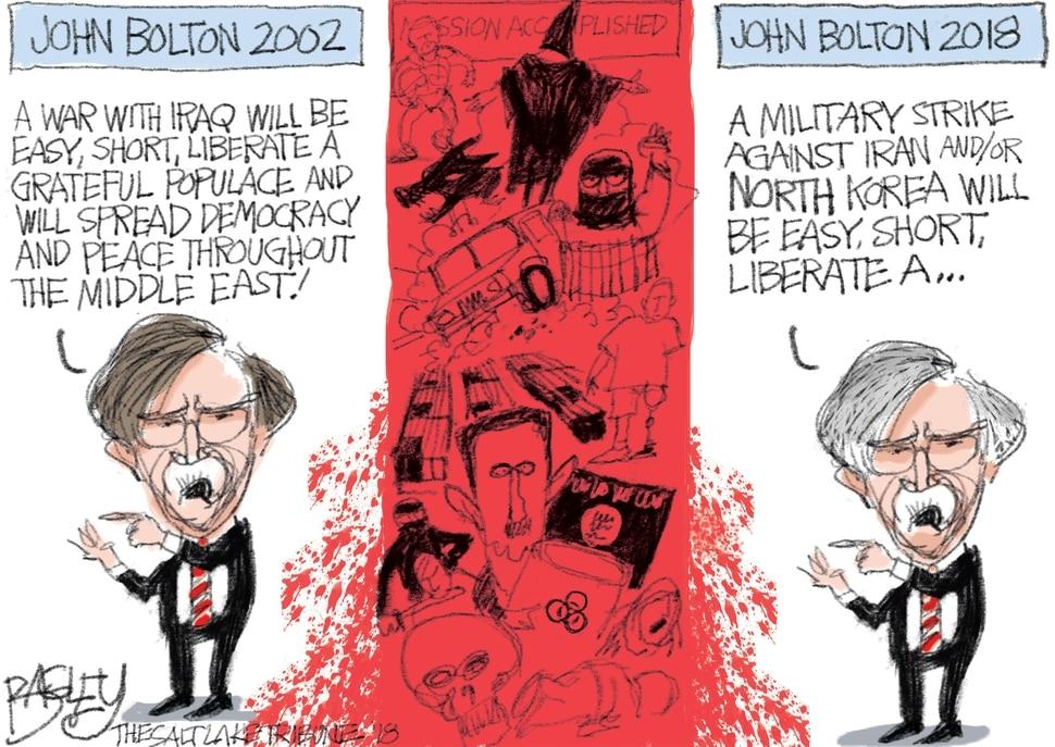 (Pat Bagley | The Salt Lake Tribune) This Pat Bagley cartoon appears in The Salt Lake Tribune on Sunday, March 25, 2018.