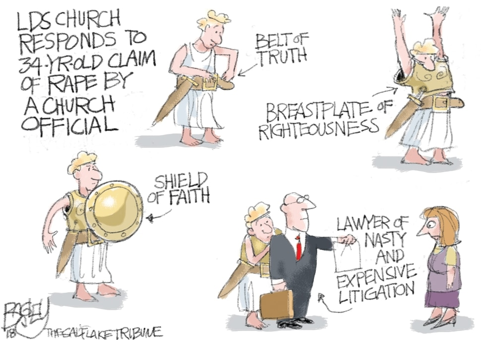 (Pat Bagley | The Salt Lake Tribune) This Pat Bagley cartoon appears in The Salt Lake Tribune on Thursday, April 5, 2018.