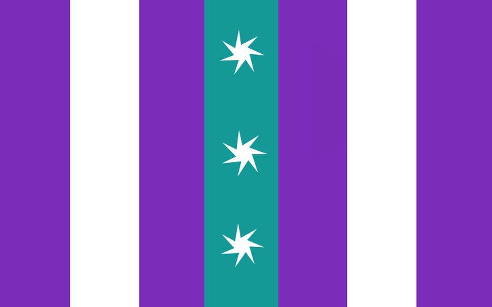 Tribune reporter Benjamin Wood's attempt at designing a new Salt Lake City flag.