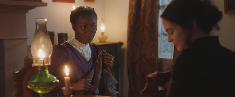 (Photo courtesy of Excel Entertainment) Danielle Deadwyler and Emily Goss portray Jane Manning James and Emma Smith, respectively, in the film