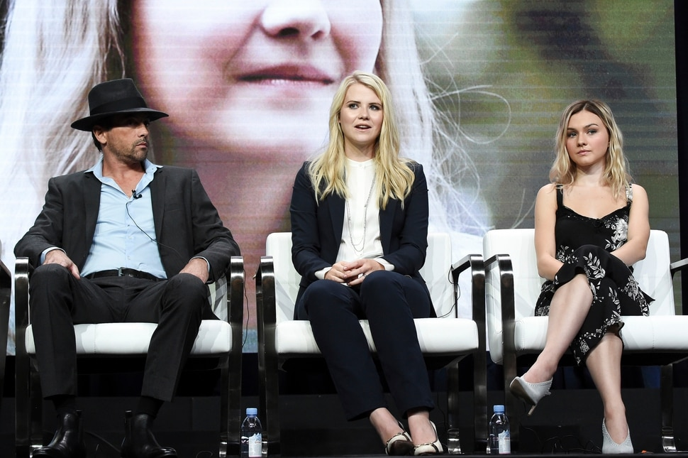 Skeet Ulrich, from left, Elizabeth Smart and Alana Boden attend the