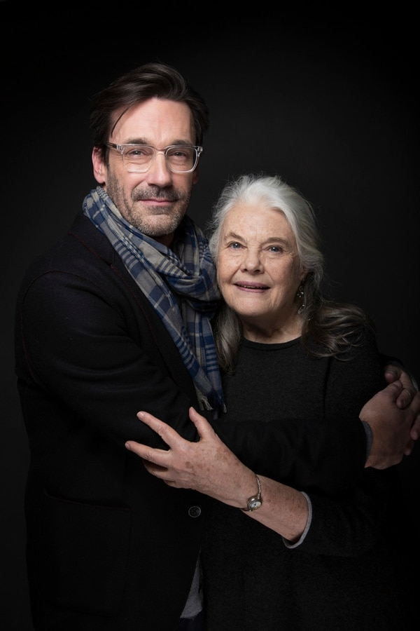 Actors Jon Hamm, left and Lois Smith pose for a portrait to promote the film,