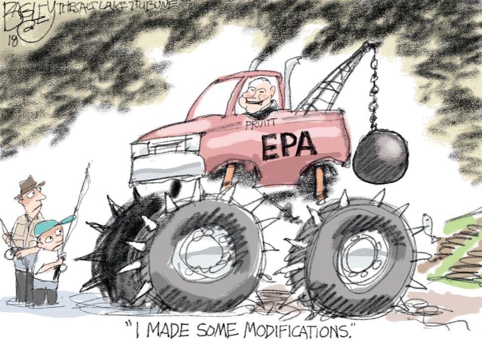 (Pat Bagley | The Salt Lake Tribune) This Pat Bagley cartoon appears in the Sunday, April 1, 2018, Salt Lake Tribune.