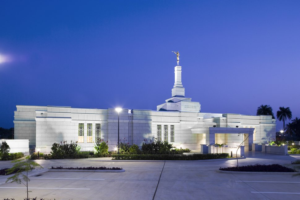 (Photo courtesy of The Church of Jesus Christ of Latter-day Saints) The Aba Nigeria Temple.
